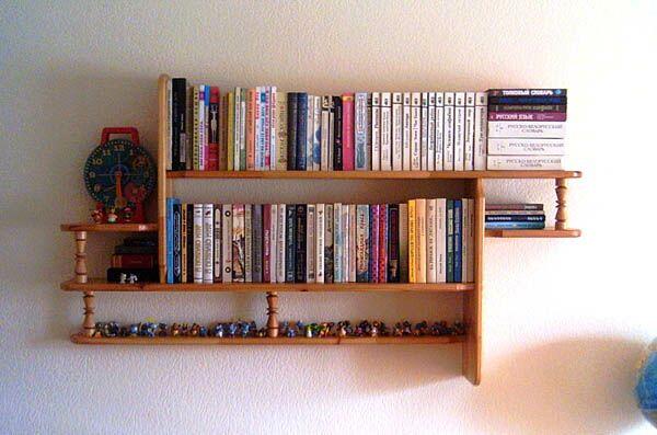 Полочка для книг своими руками фото из дерева